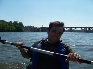 Chris Kayaking