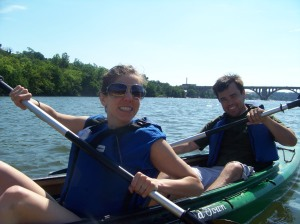 Kayaking in the sunshine
