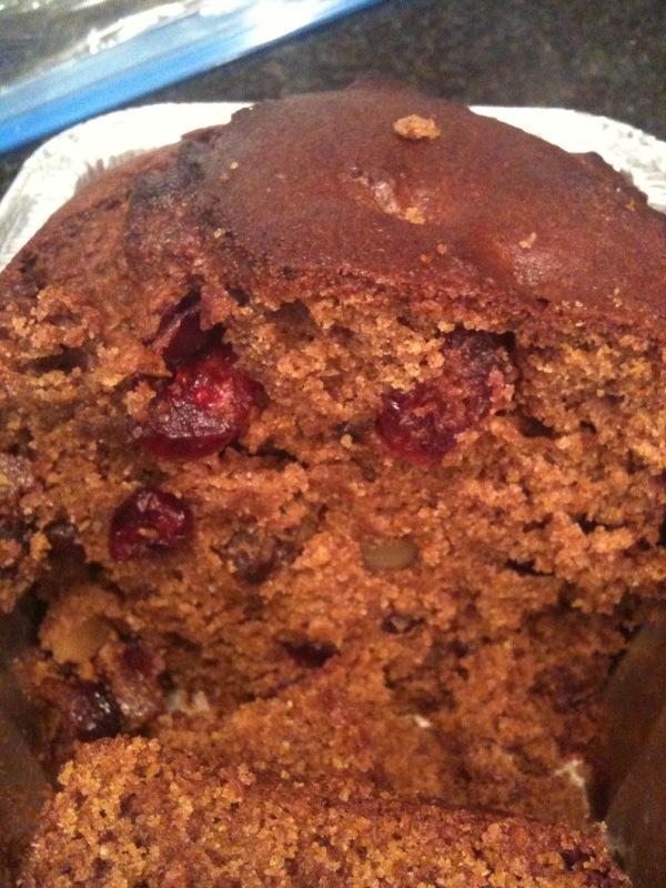 pumpkin cranberry walnut bread