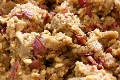 peanut butter bacon cookie dough