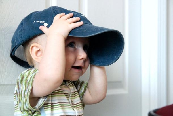 Will in grandpa's cap
