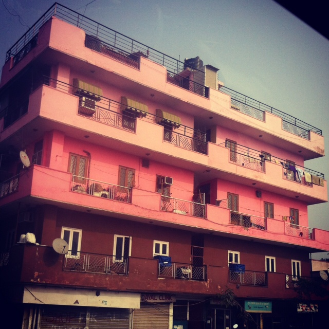 ombre building
